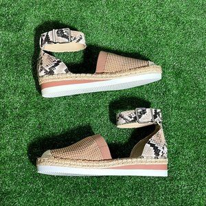 Vince Camuto Sporty Espadrille Wedge Sandals 7 NEW